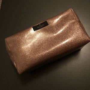 Kate spade sparkly pink cosmetics case